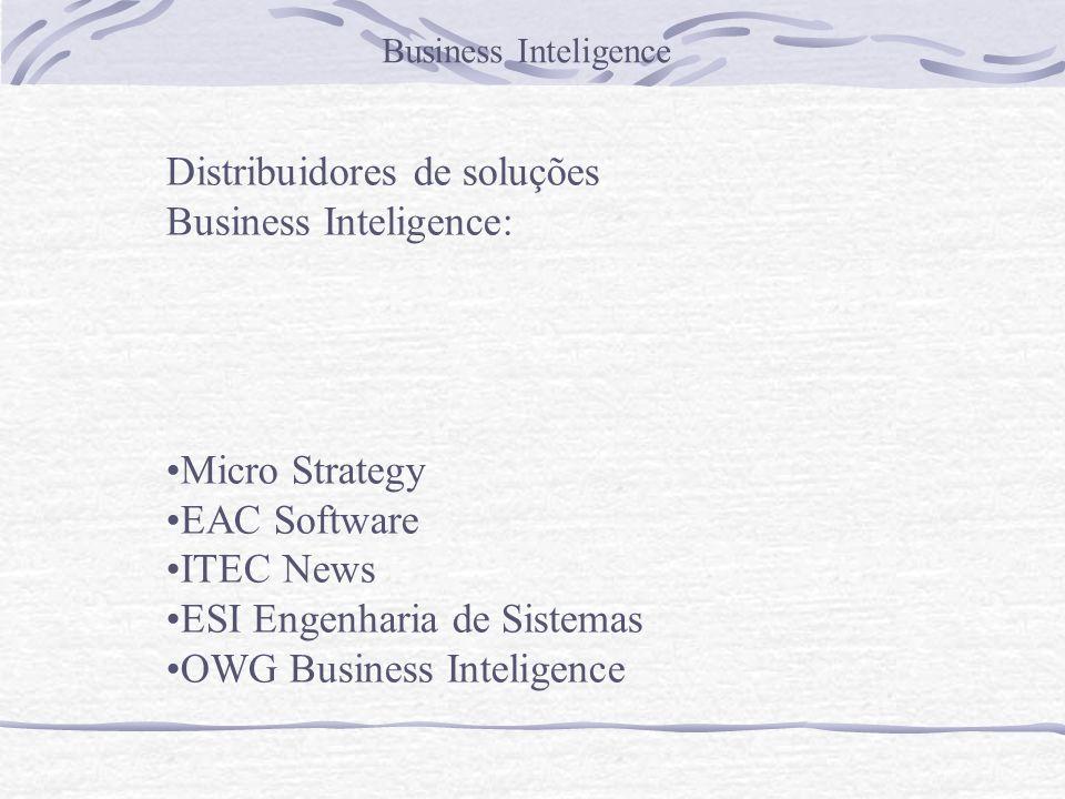 Distribuidores de soluções Business Inteligence:
