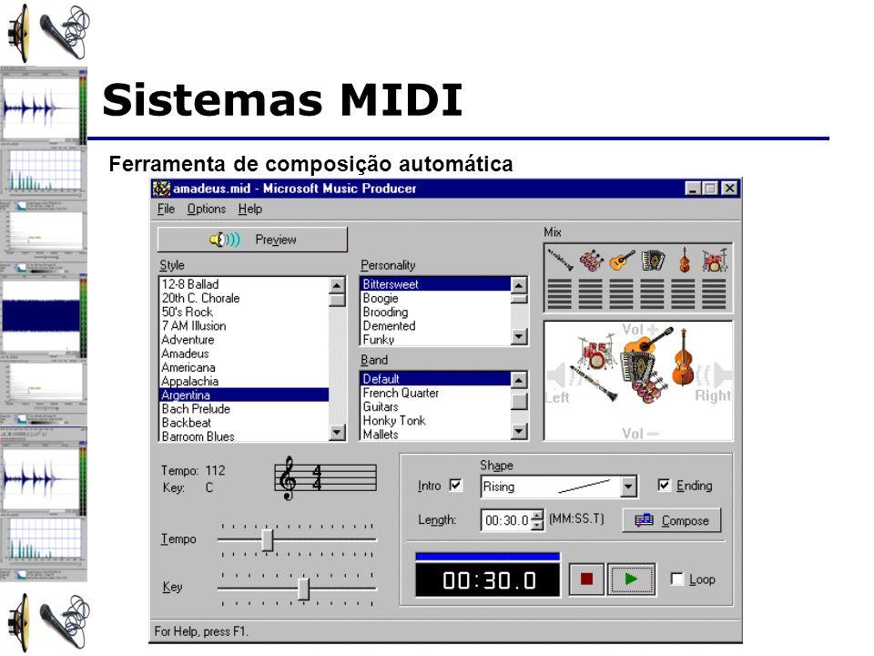 Sistemas MIDI Ferramenta de composição automática
