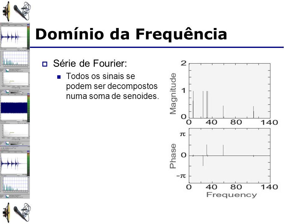 Domínio da Frequência Série de Fourier: