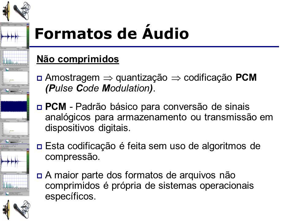 Formatos de Áudio Não comprimidos