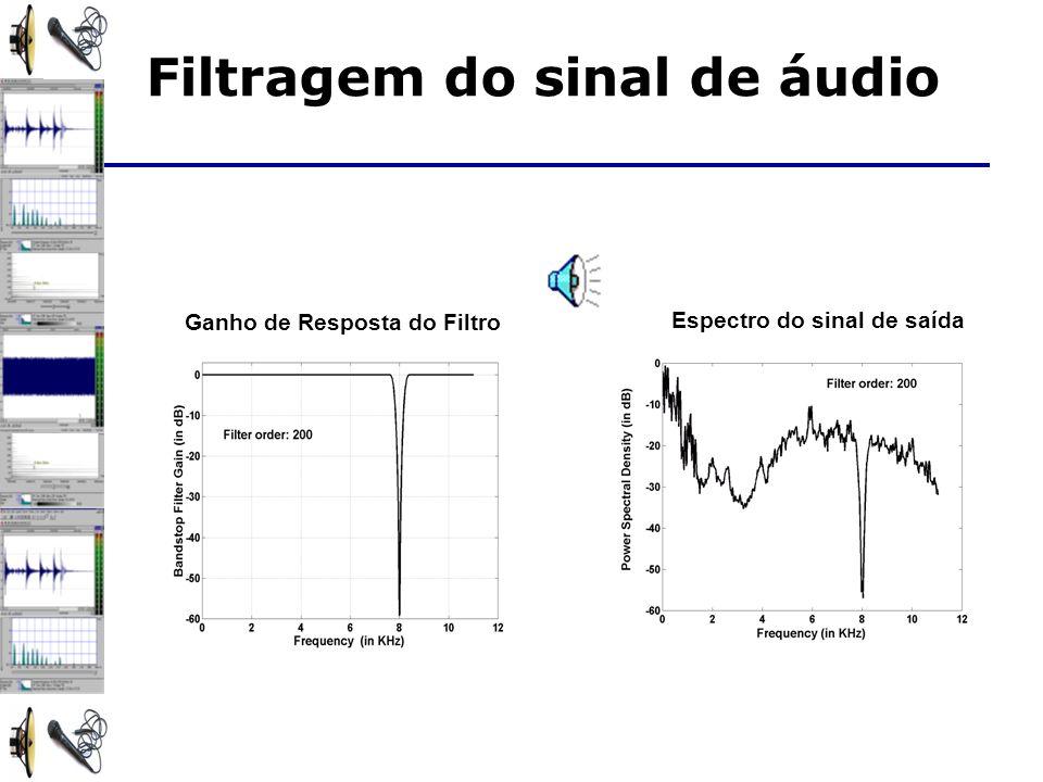 Filtragem do sinal de áudio