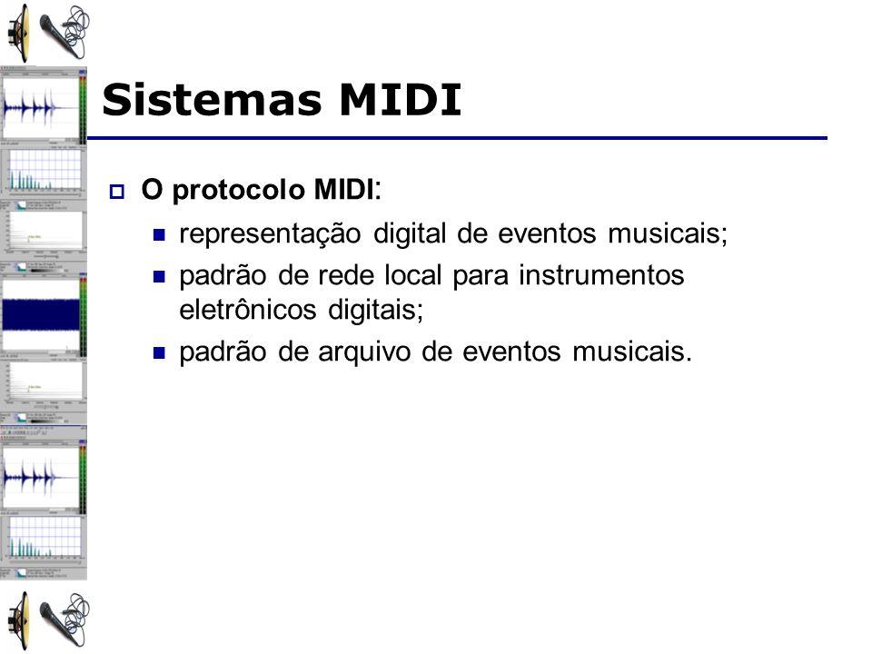 Sistemas MIDI O protocolo MIDI: