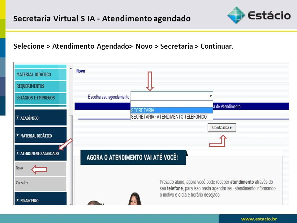 Secretaria Virtual S IA - Atendimento agendado