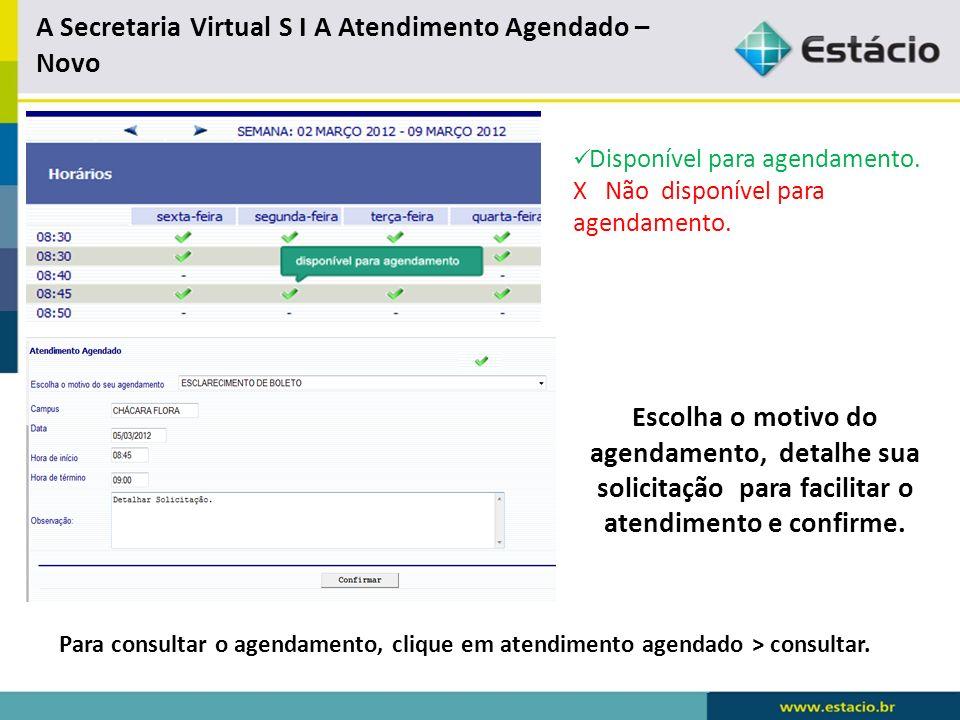 A Secretaria Virtual S I A Atendimento Agendado – Novo