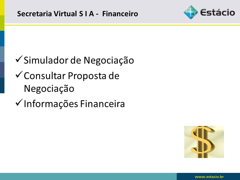 Secretaria Virtual S I A - Financeiro