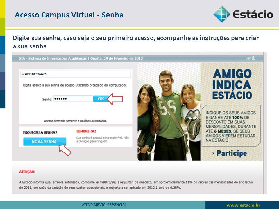 Acesso Campus Virtual - Senha