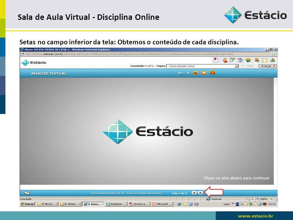Sala de Aula Virtual - Disciplina Online