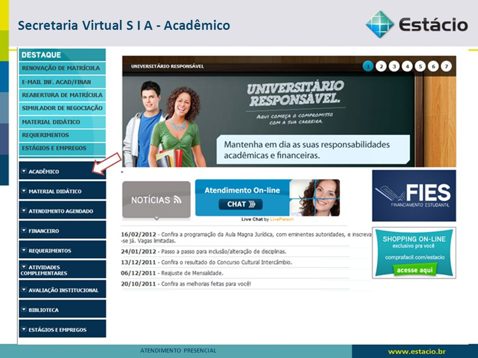 Secretaria Virtual S I A - Acadêmico