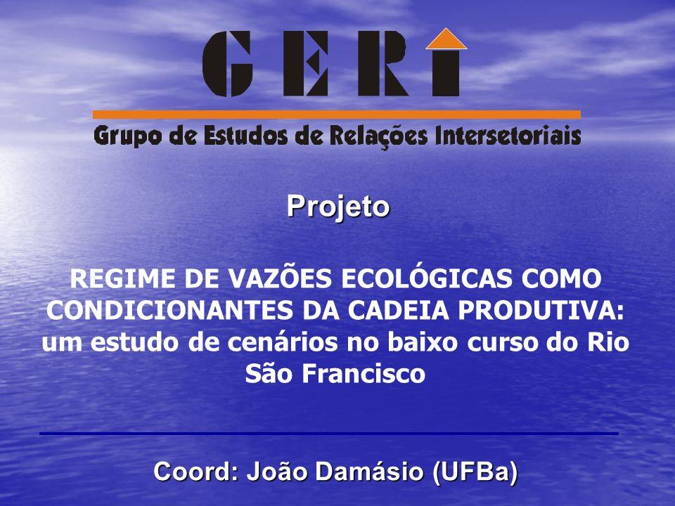 um estudo de cenários no baixo curso do Rio São Francisco