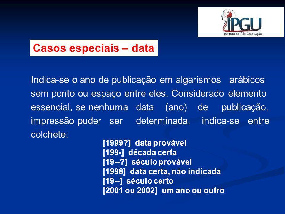 Casos especiais – data