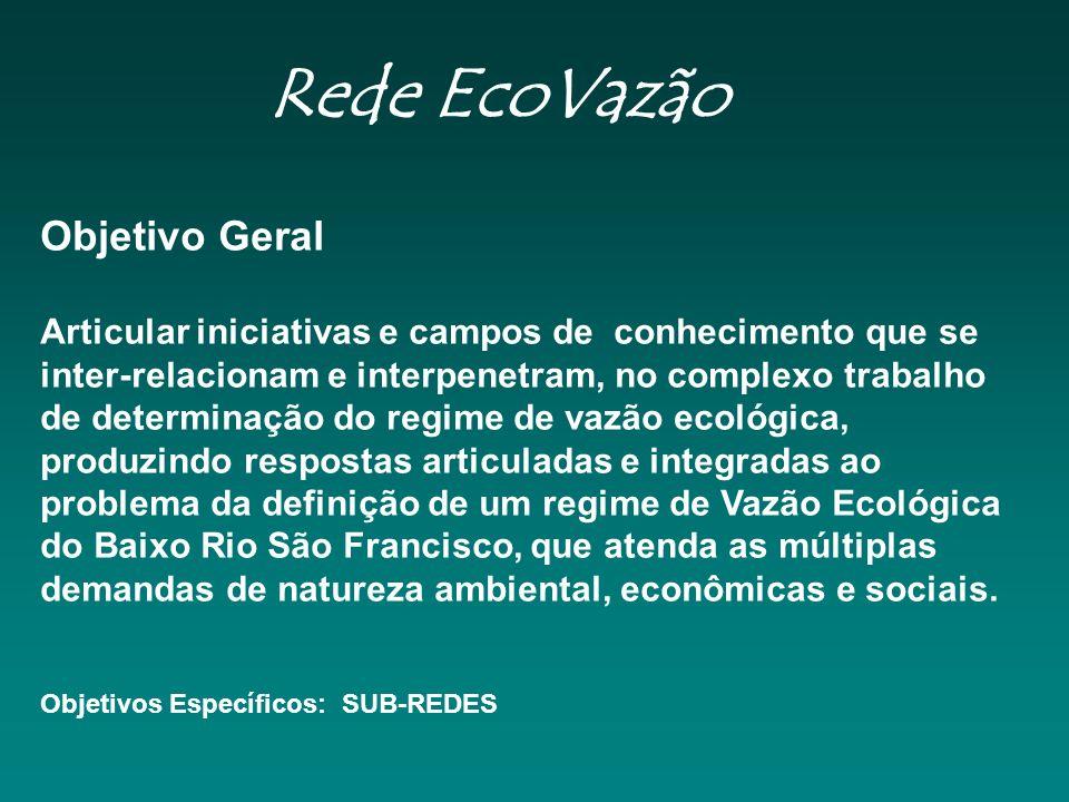 Rede EcoVazão Objetivo Geral