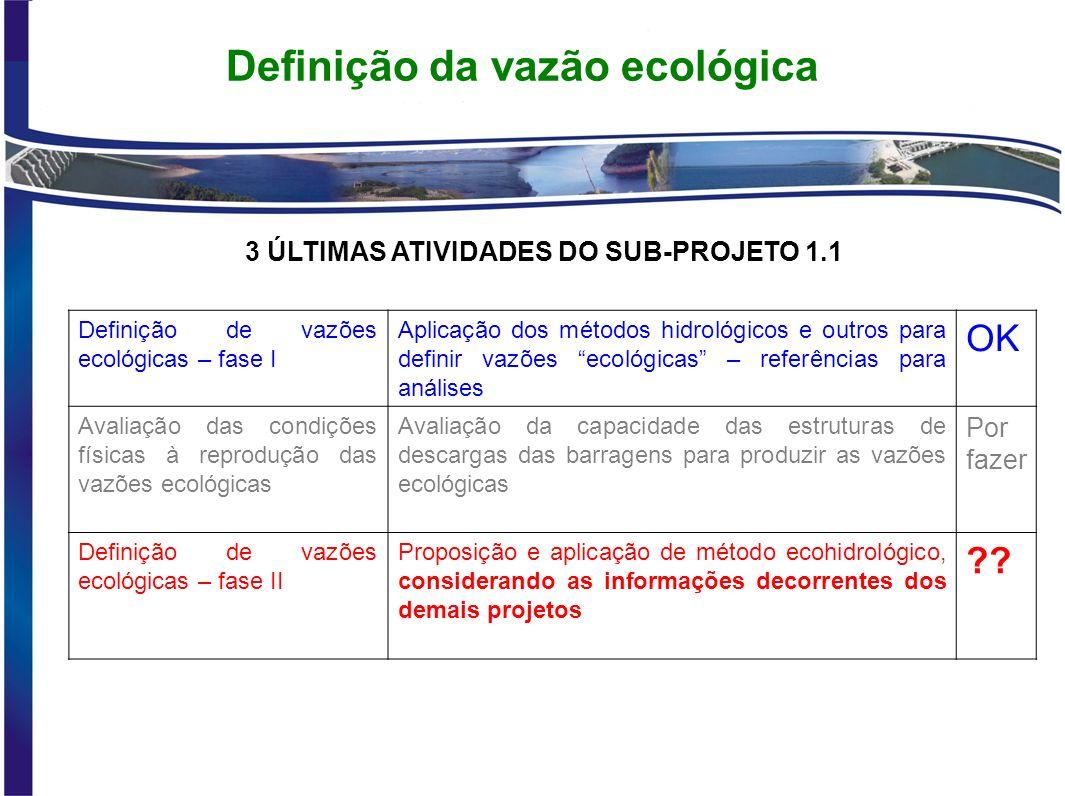 Definição da vazão ecológica
