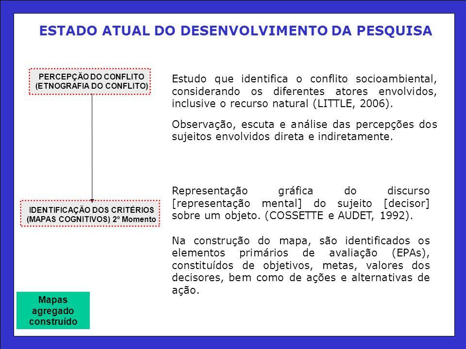 ESTADO ATUAL DO DESENVOLVIMENTO DA PESQUISA