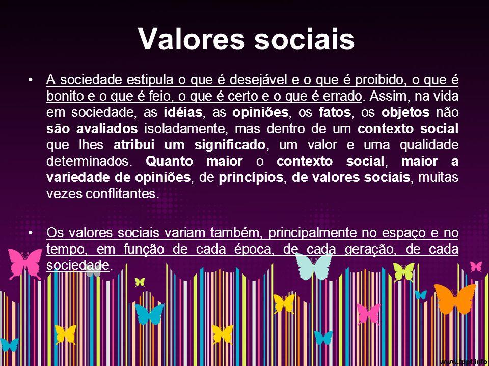 Valores sociais