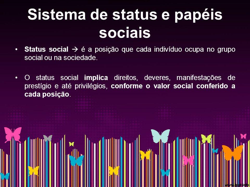Sistema de status e papéis sociais