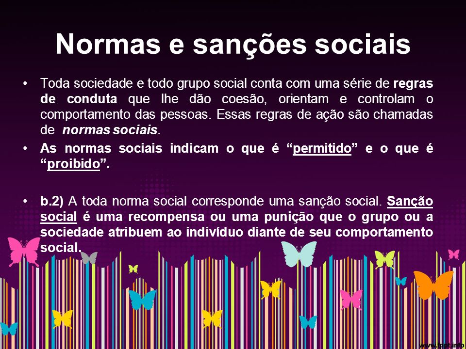 Normas e sanções sociais