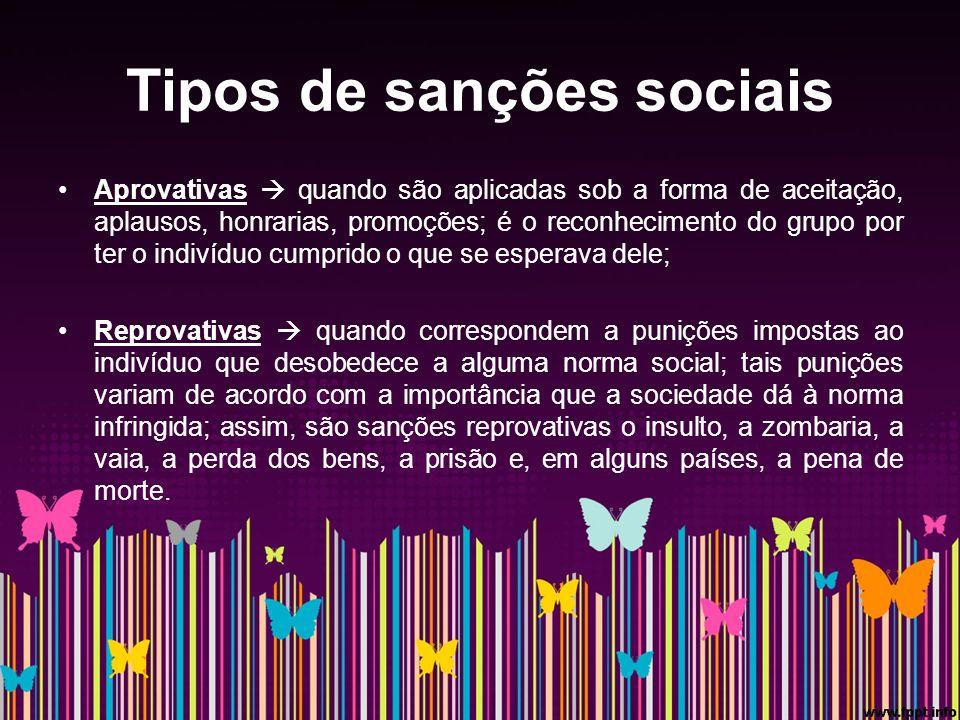 Tipos de sanções sociais