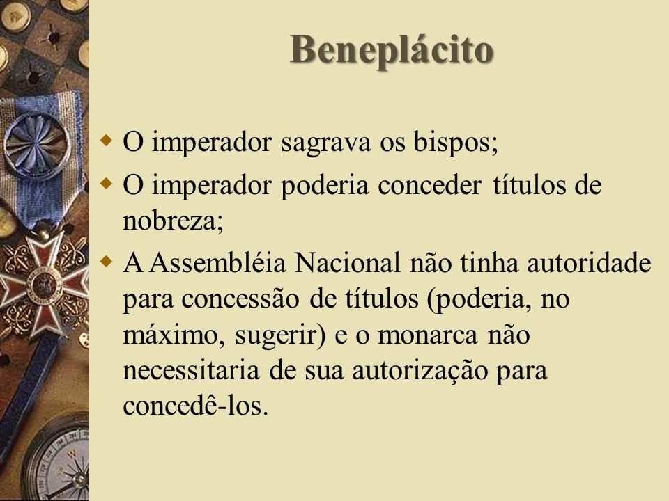 Beneplácito O imperador sagrava os bispos;