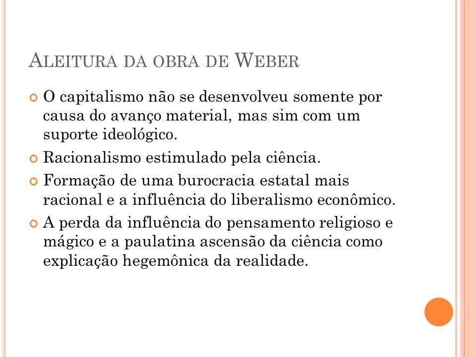 Aleitura da obra de Weber