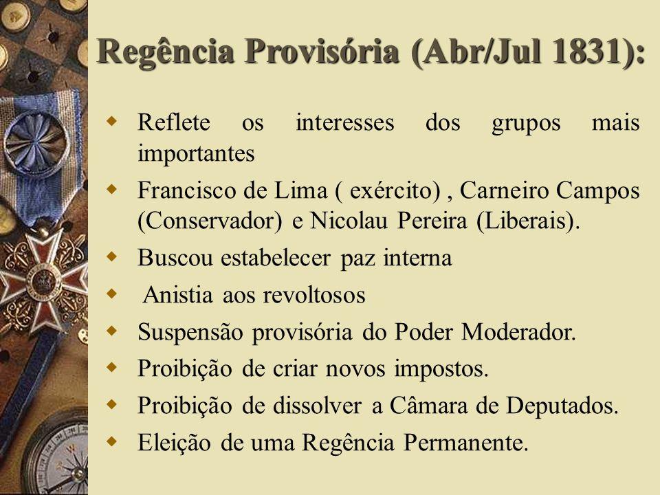 Regência Provisória (Abr/Jul 1831):