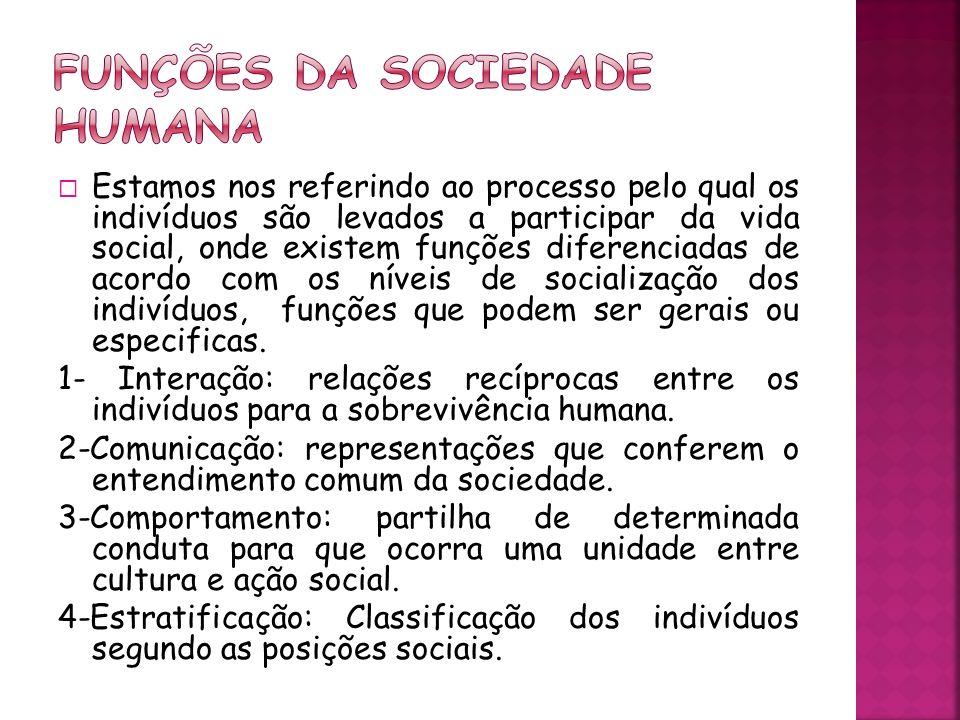 Funções da sociedade humana