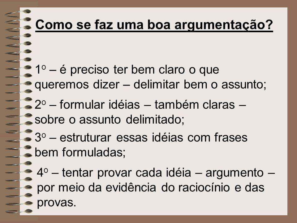 Como se faz uma boa argumentação