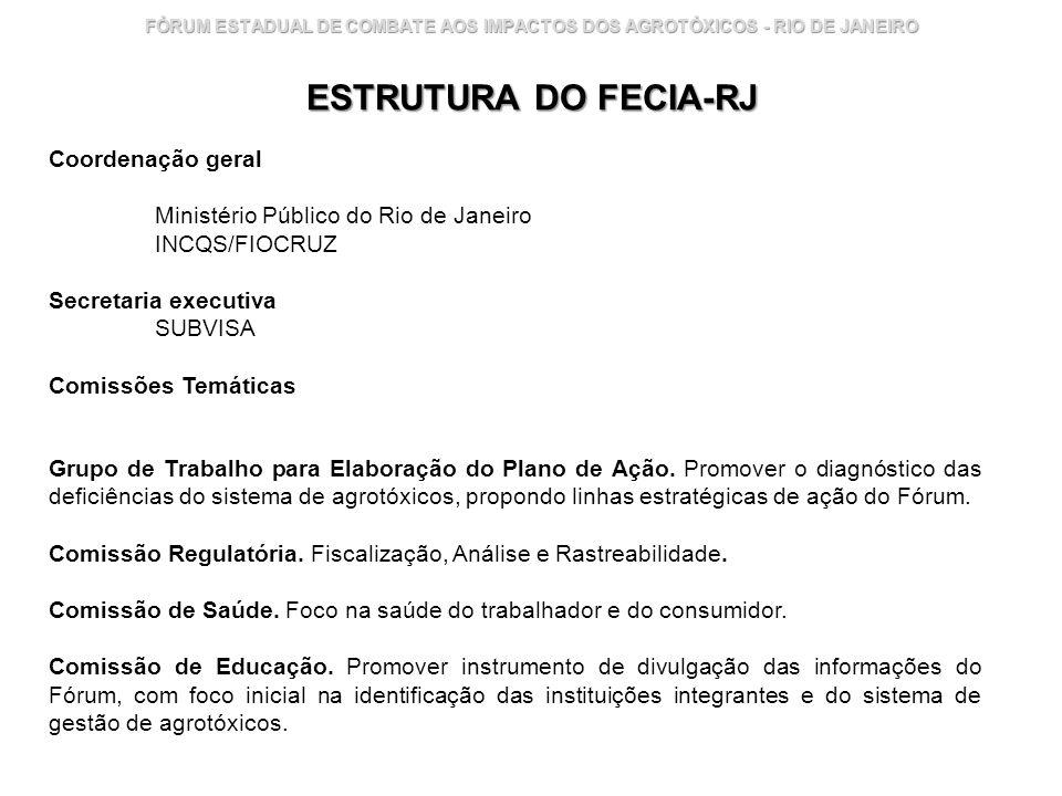 ESTRUTURA DO FECIA-RJ Coordenação geral