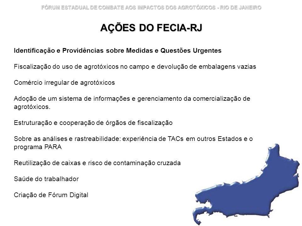FÓRUM ESTADUAL DE COMBATE AOS IMPACTOS DOS AGROTÓXICOS - RIO DE JANEIRO