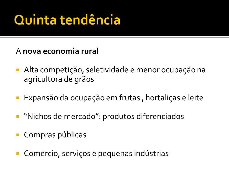 Quinta tendência A nova economia rural