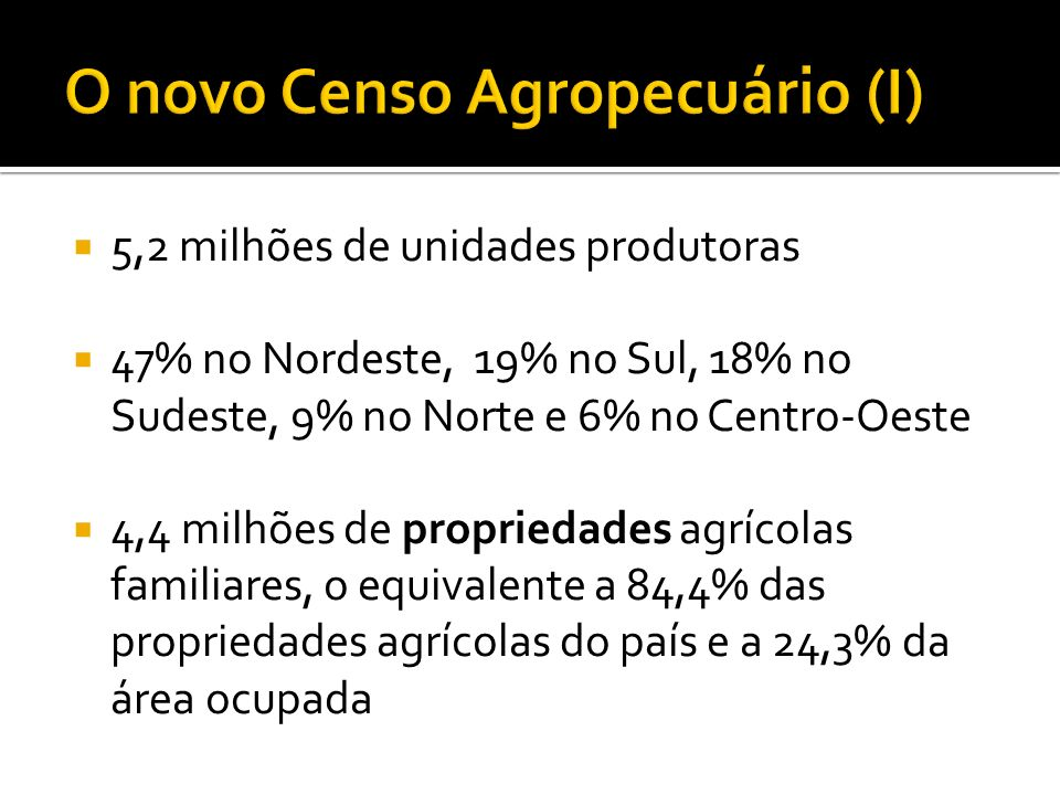O novo Censo Agropecuário (I)