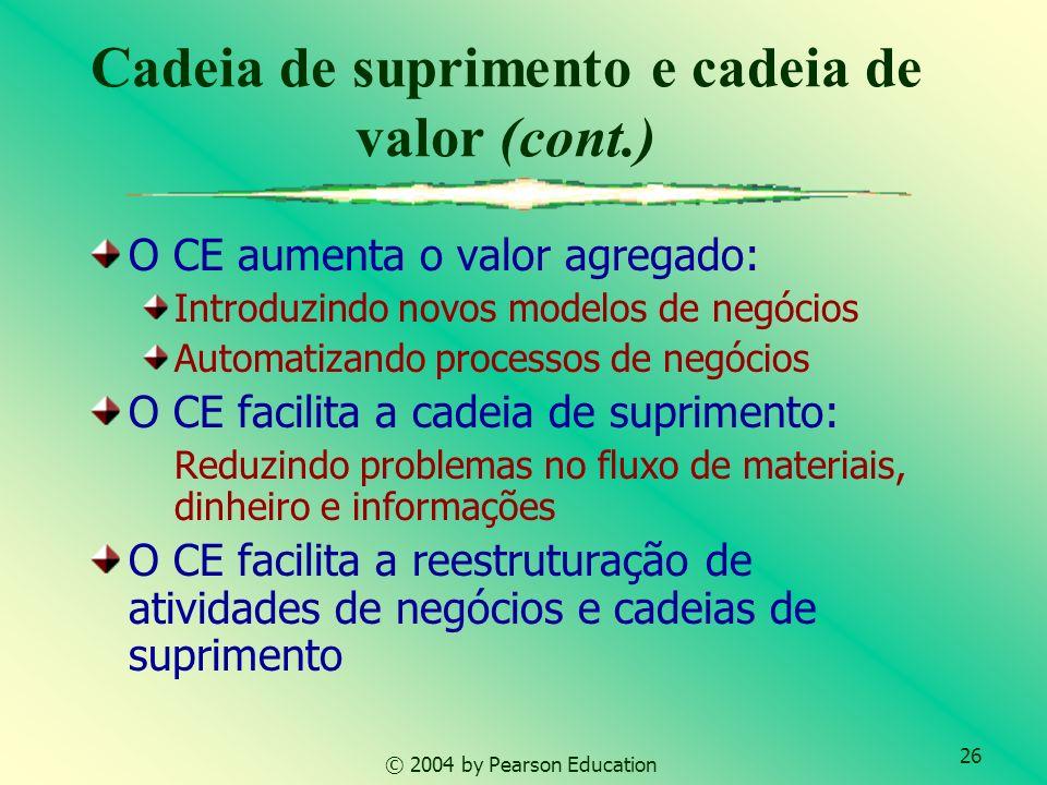 Cadeia de suprimento e cadeia de valor (cont.)