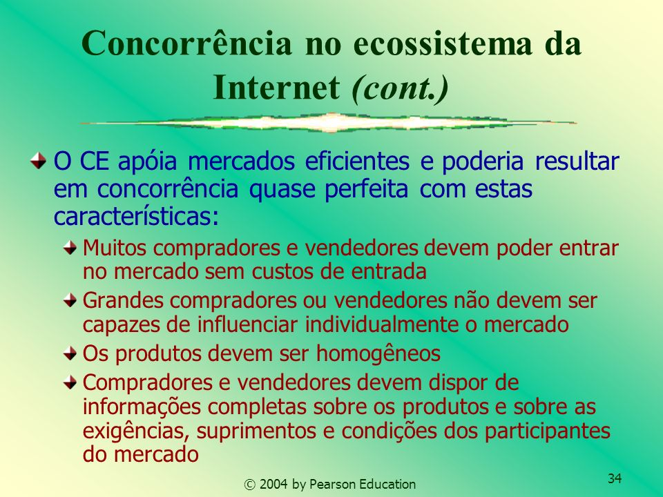 Concorrência no ecossistema da Internet (cont.)