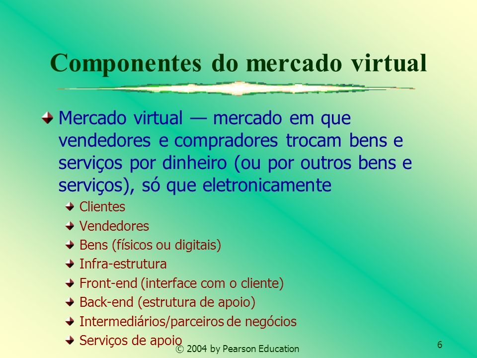 Componentes do mercado virtual