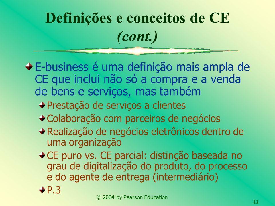 Definições e conceitos de CE (cont.)