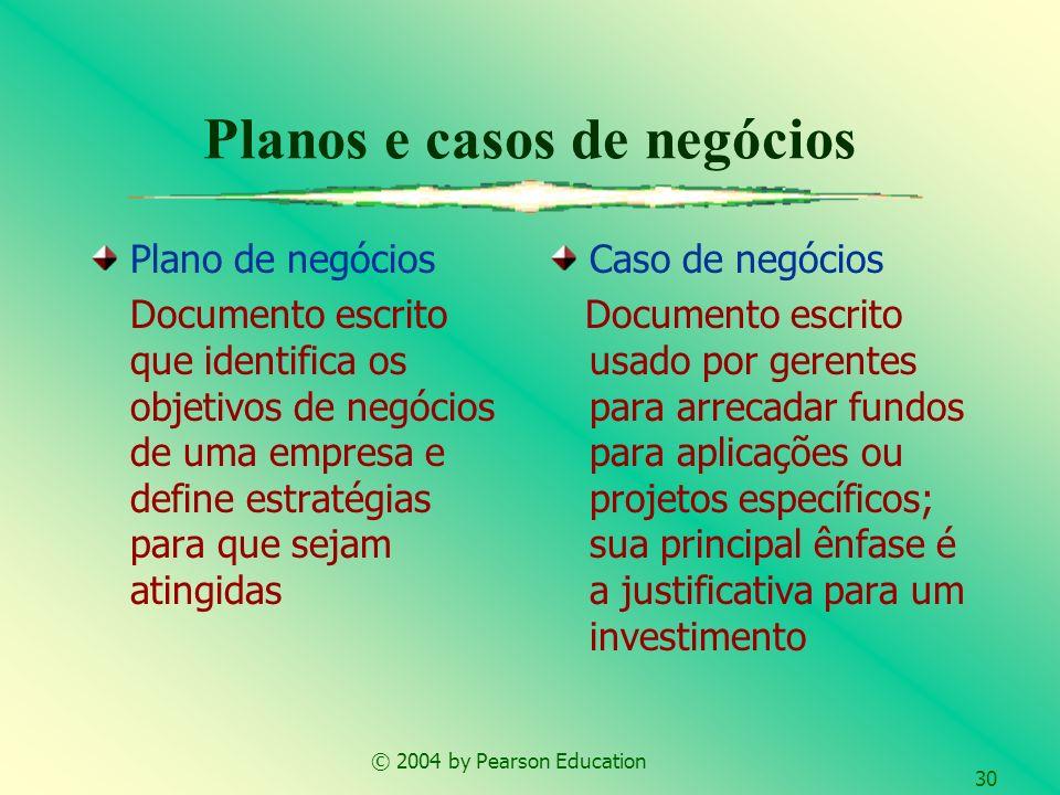 Planos e casos de negócios