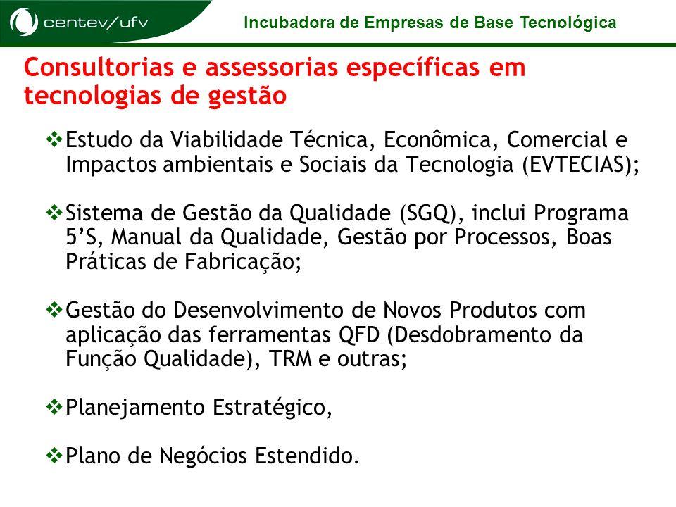 Consultorias e assessorias específicas em tecnologias de gestão