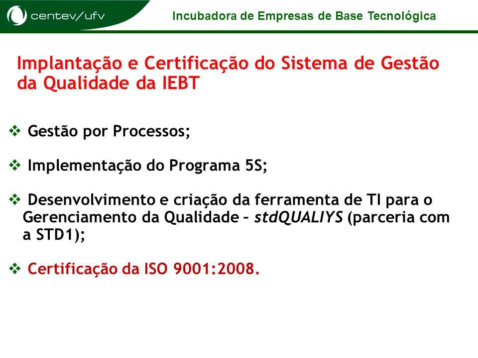 Implantação e Certificação do Sistema de Gestão da Qualidade da IEBT