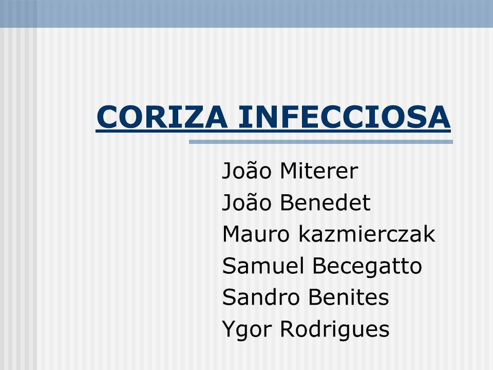 CORIZA INFECCIOSA João Miterer João Benedet Mauro kazmierczak