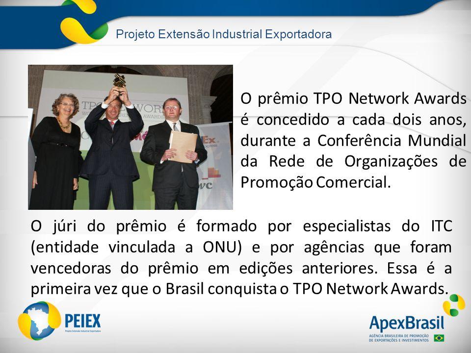 O prêmio TPO Network Awards é concedido a cada dois anos, durante a Conferência Mundial da Rede de Organizações de Promoção Comercial.