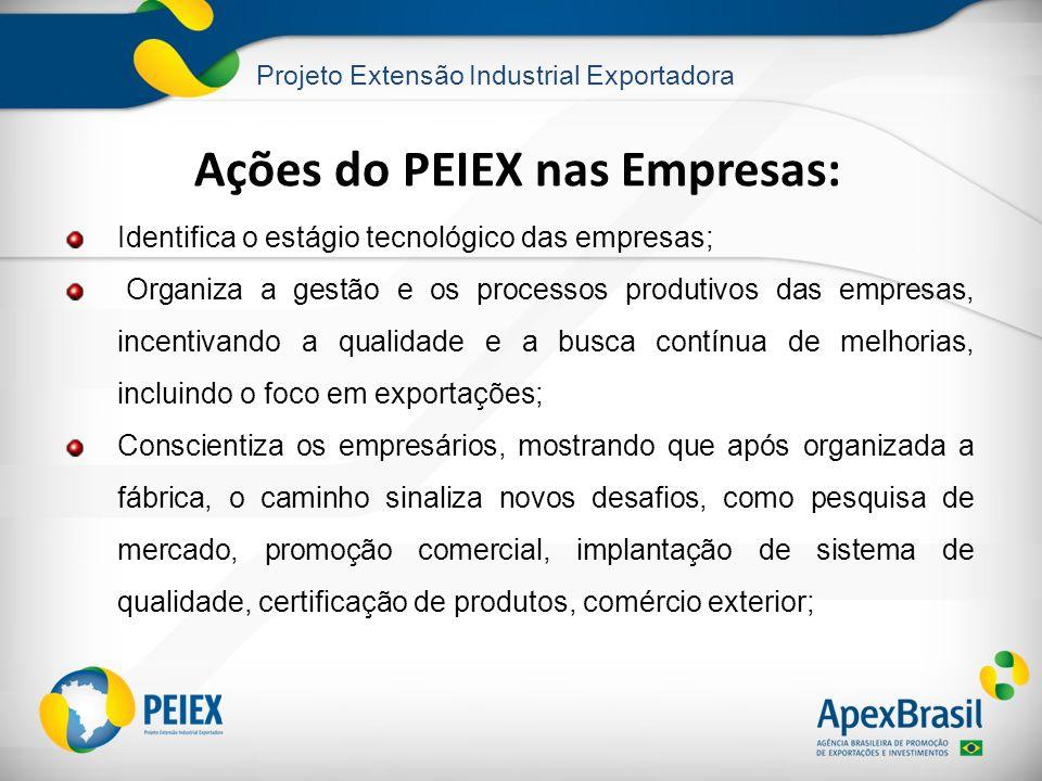 Ações do PEIEX nas Empresas: