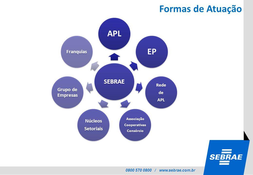 Formas de Atuação APL EP SEBRAE Grupo de Empresas Núcleos Franquias