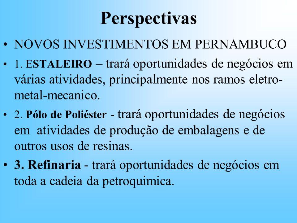 Perspectivas NOVOS INVESTIMENTOS EM PERNAMBUCO