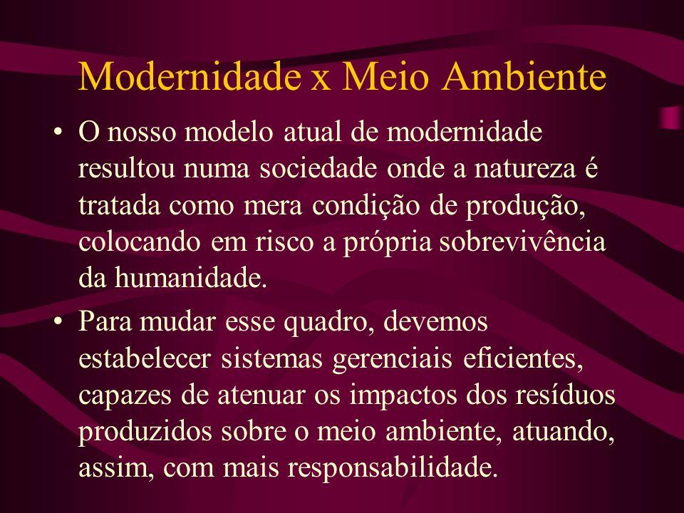 Modernidade x Meio Ambiente