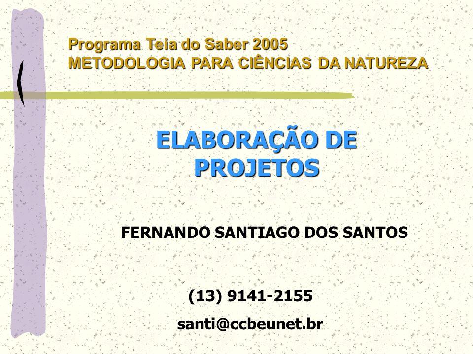 ELABORAÇÃO DE PROJETOS FERNANDO SANTIAGO DOS SANTOS