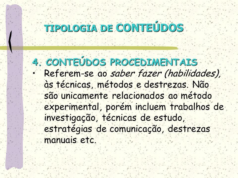 TIPOLOGIA DE CONTEÚDOS