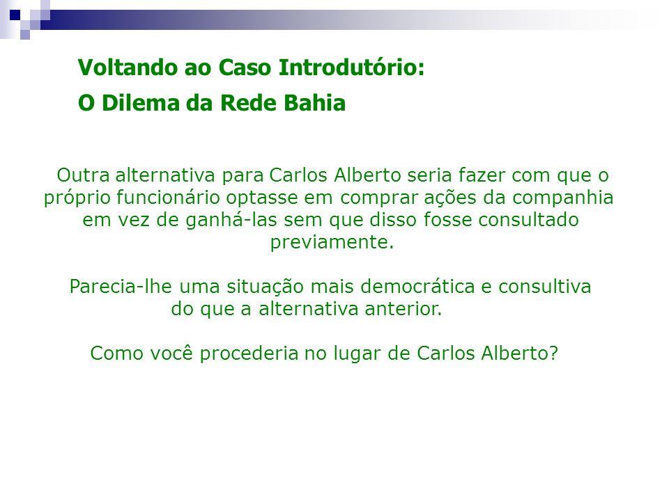 Voltando ao Caso Introdutório: O Dilema da Rede Bahia