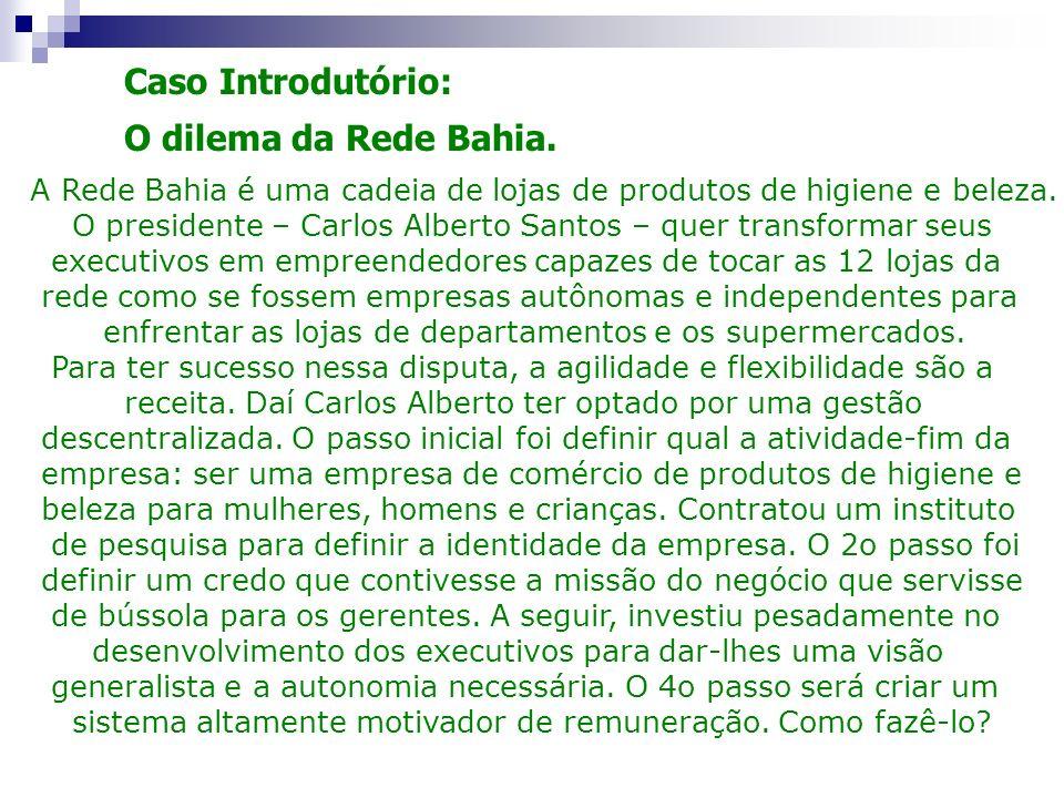 Caso Introdutório: O dilema da Rede Bahia.