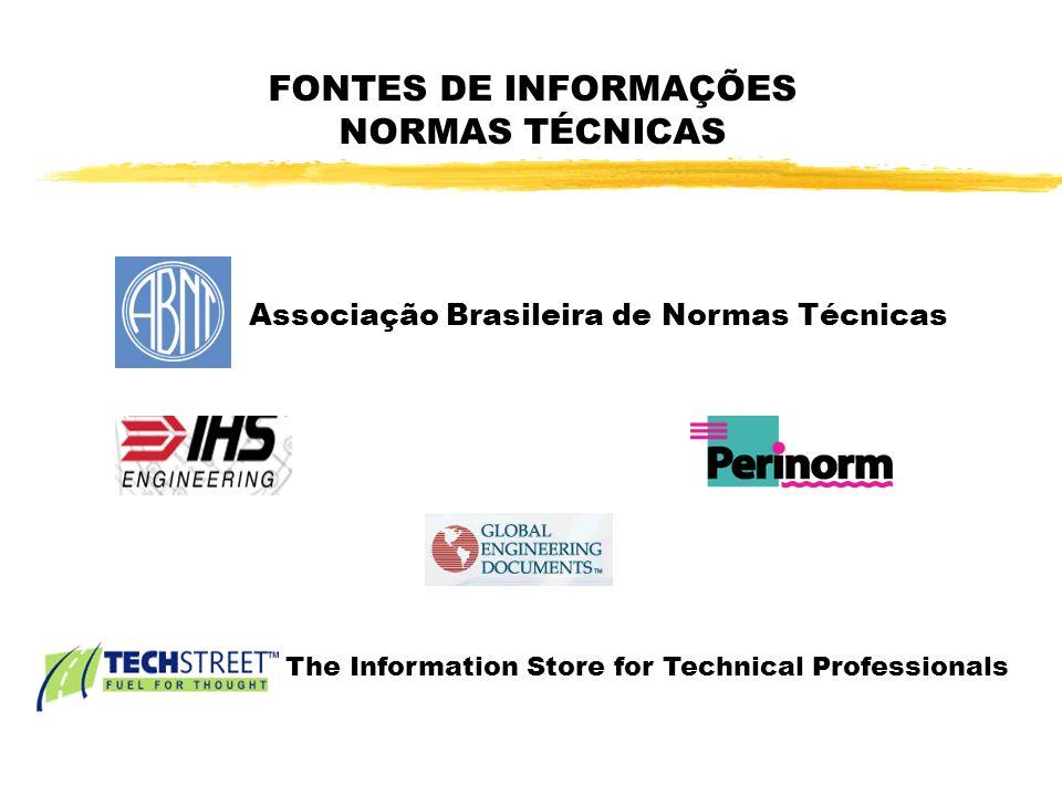 FONTES DE INFORMAÇÕES NORMAS TÉCNICAS