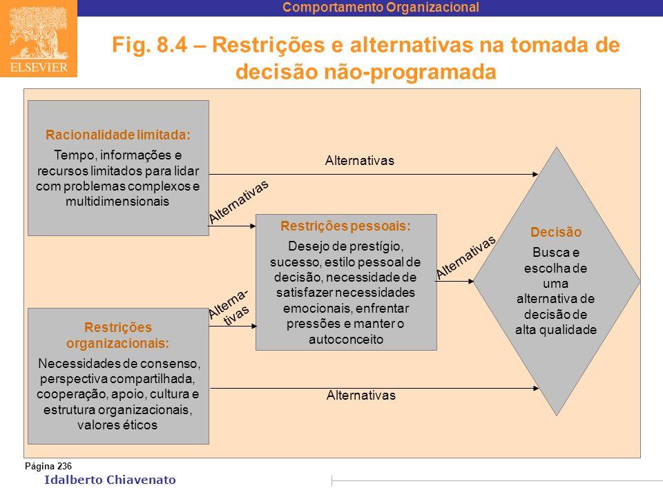 Racionalidade limitada: Restrições organizacionais: