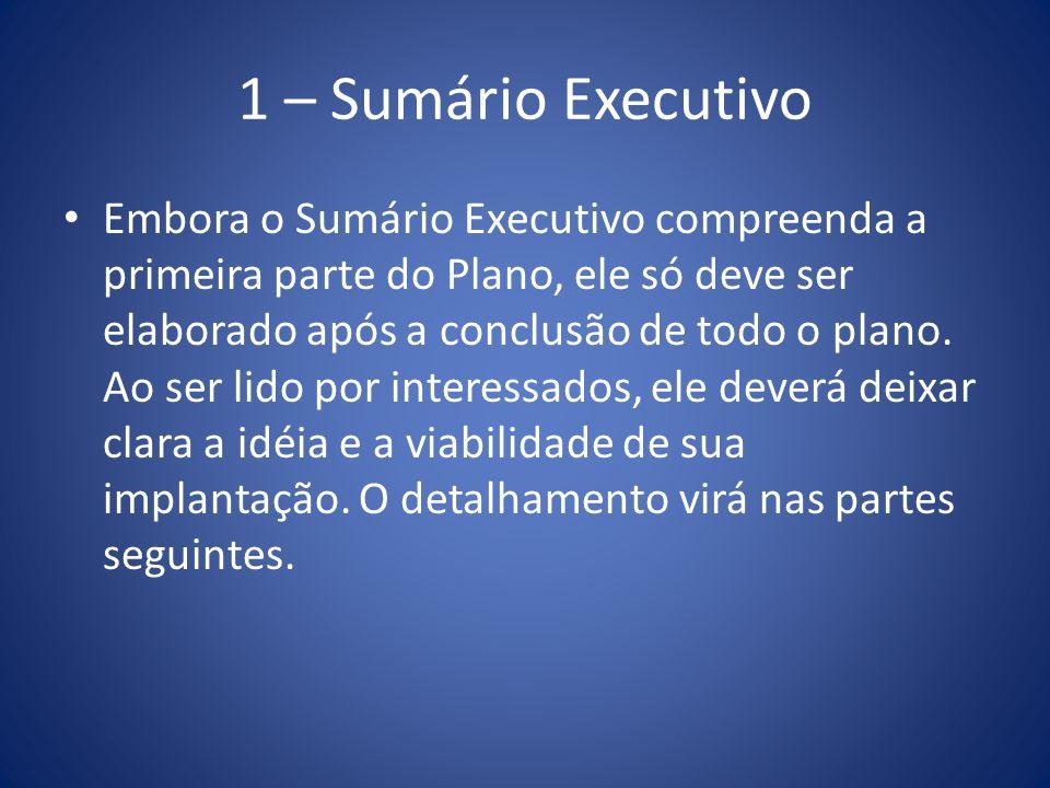 1 – Sumário Executivo